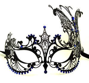 black mysterious masquerade mask