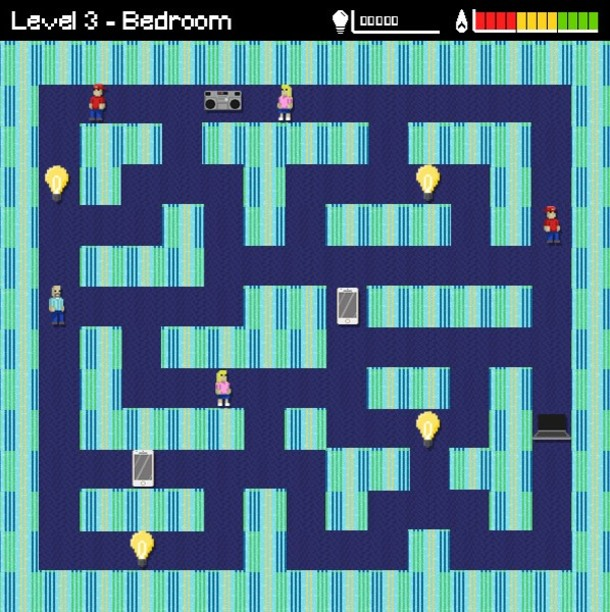 Screenshot from British Gas Smart Meter Maze Game