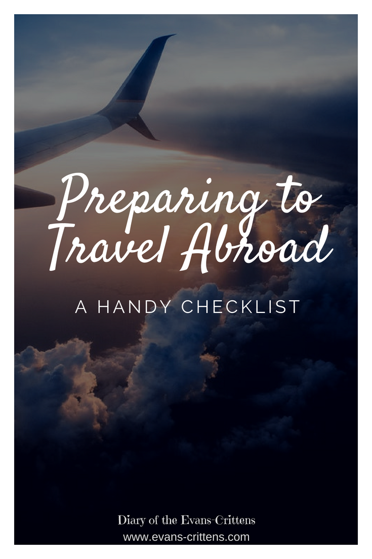 Preparing to travel abroad: a handy checklist
