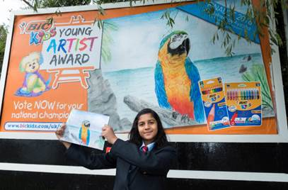, Ayesha Tania from Newport Wins BIC® KIDS Young Artist Award 2018
