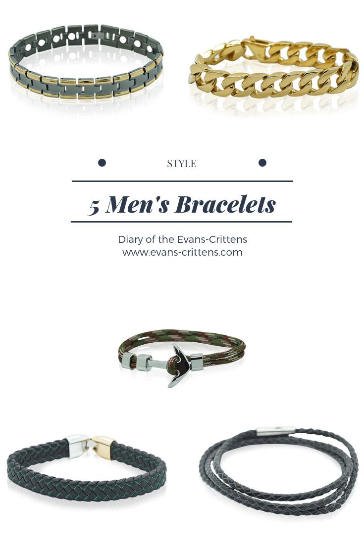, Style:  5 Men's Bracelets