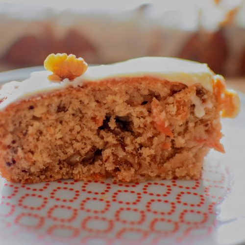 Vegan Carrot Cake, Food:  Vegan Carrot Cake with Orange Cream Frosting Recipe