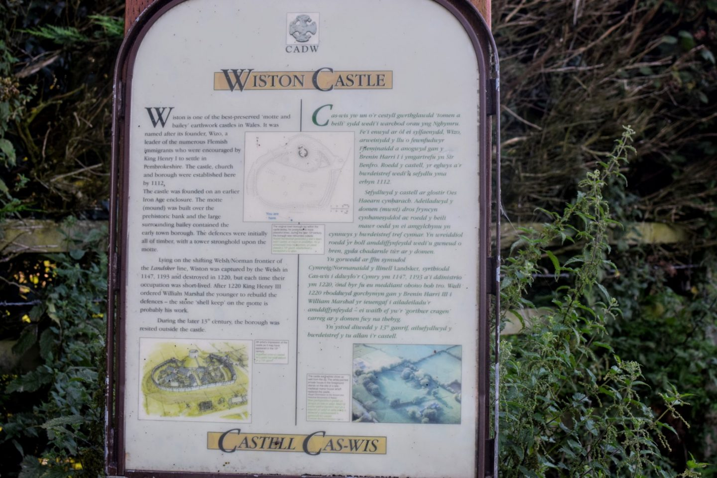 , Wiston Castle, Pembrokeshire