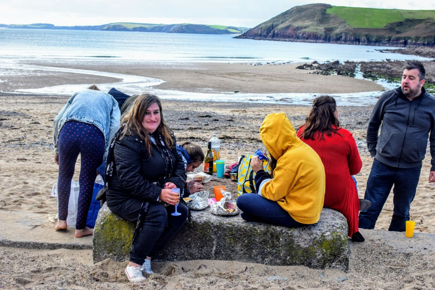 , Birthday Celebrations at Manorbier Beach