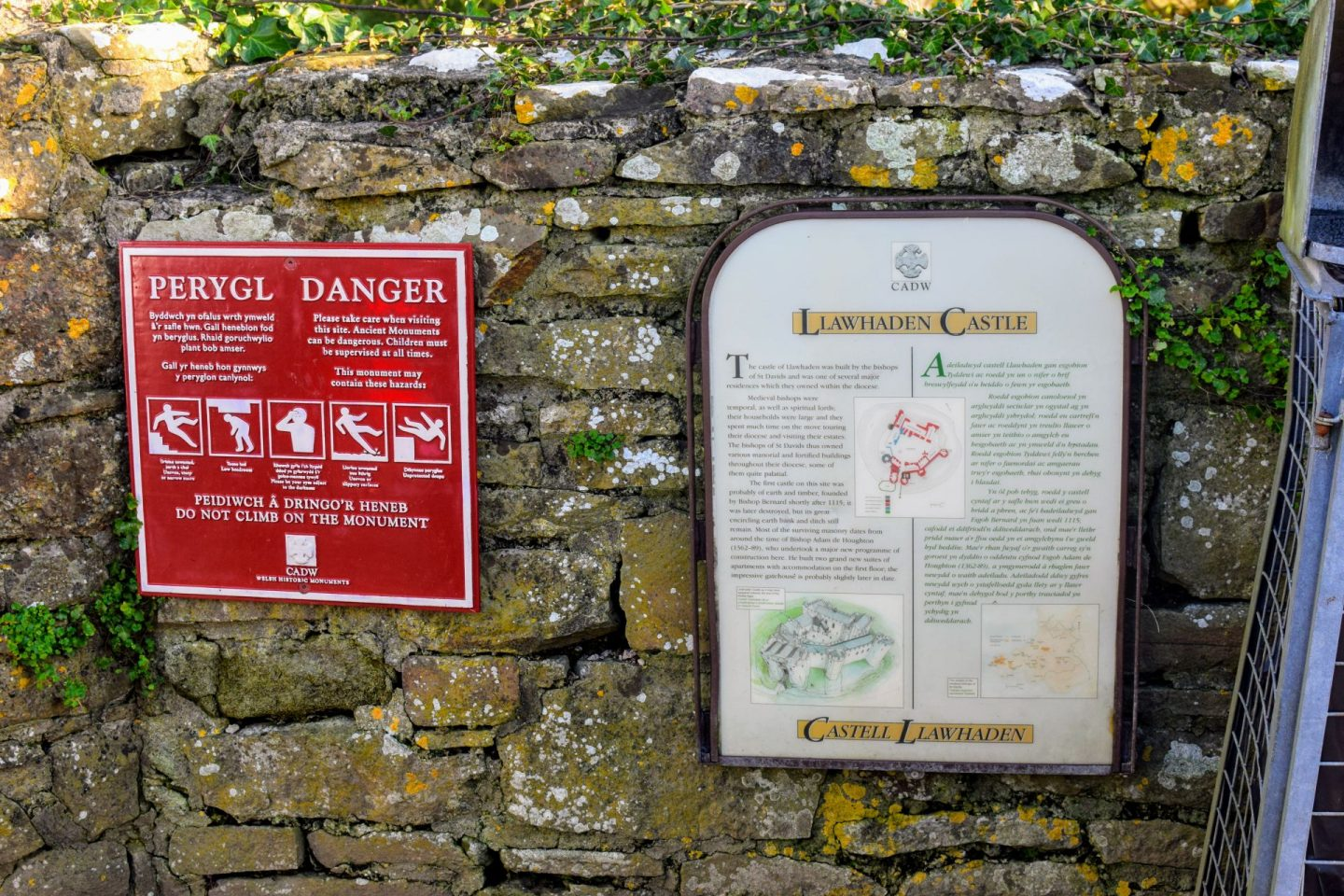 , Exploring Llawhaden Castle and Church, January 2020