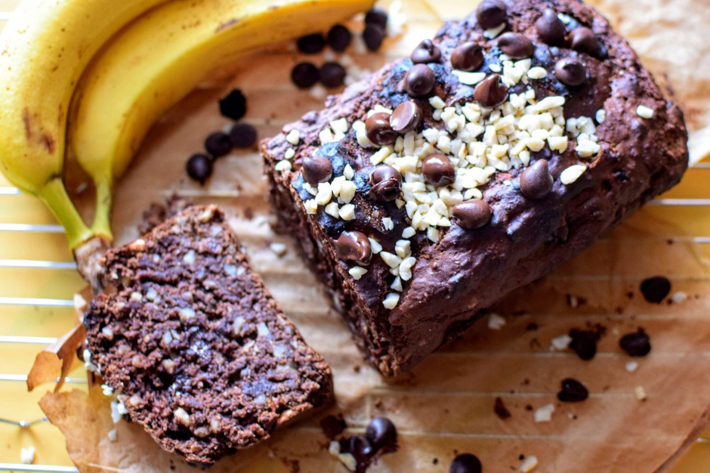 banana and chocolate protein bread, Vegan Banana and Chocolate Protein Bread Recipe
