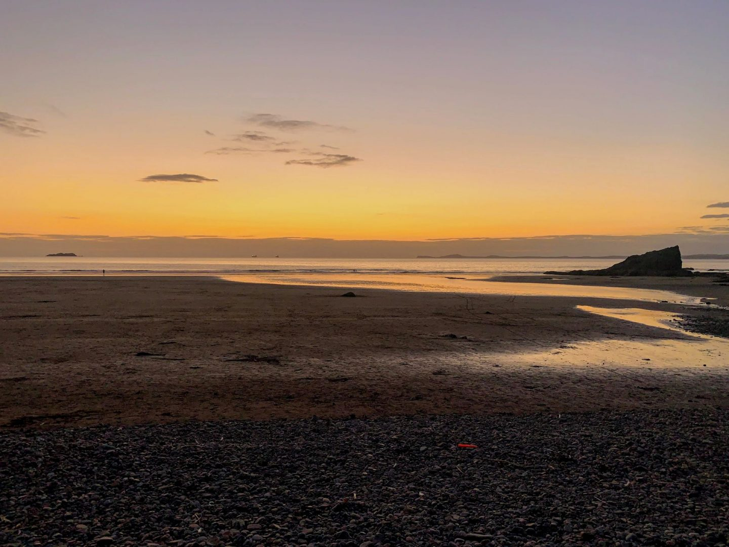 , An Evening at Broad Haven North Beach