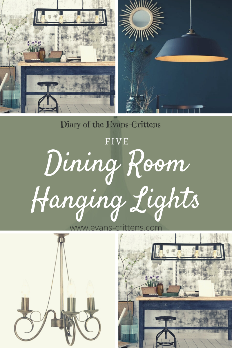 dining room hanging lights, Five Dining Room Hanging Lights