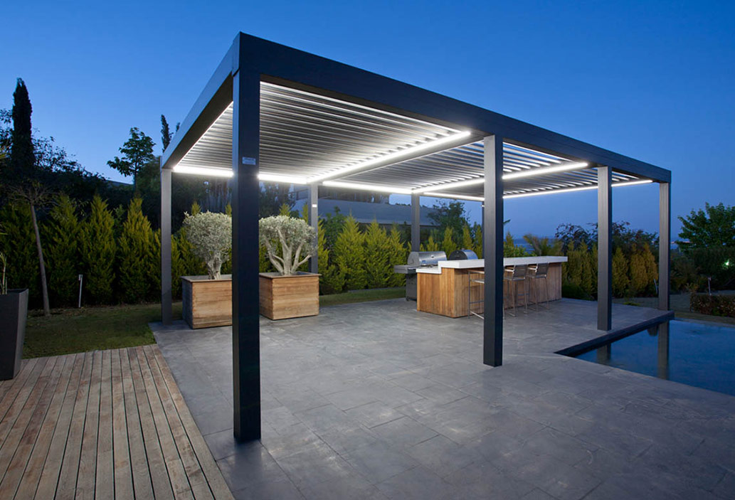 , Use your outdoor space during the winter with a retractable pergola